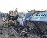 Maoists derail train, 80 die