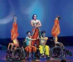 Performing on wheelchair