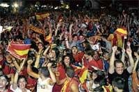 This time for us, sing Spaniards