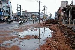 Lack of drains worry I G Road traders