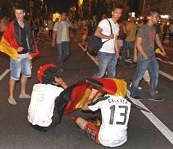 Silence over Germany as World Cup title dream ends