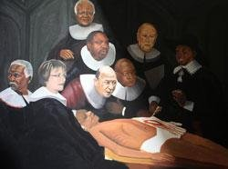 South Africa outraged over dead Mandela painting