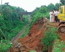Possible landslip cleared near Surathkal