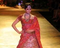 Kangna Ranaut walks the ramp for JJ Valaya