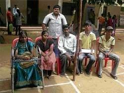 Disabled display grit at job fair