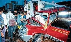 Two killed in road mishap