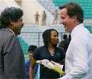 Kapil Dev bowls to British PM
