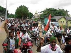 Bike rally to support 'Nada Rakshana Nadige'