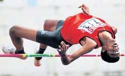 Harshith leaps to new meet record