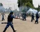 Over a dozen protesters, securitymen injured in Kashmir