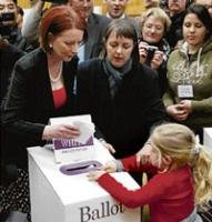 Voting ends in Australia, PM takes early lead