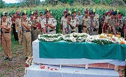 BSF soldier laid down to rest