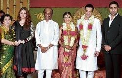 Stars, politicians grace Rajni's daughter wedding | Deccan Herald