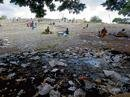 City littered with festival garbage