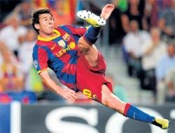 Messi lights up Europe again