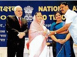 President's award for Kannada teacher from Sringeri