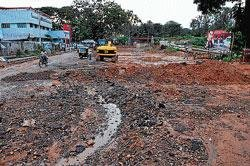 These roads will be an eyesore during Dasara
