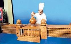 Chef's impression of Vidhana Soudha in chocolate