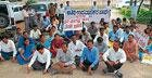 Guest lecturers take out protest rally in Hassan