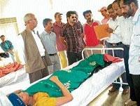Villagers stage stir, demand compensation to victim