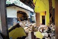 Rains damage property  in DK, Udupi districts