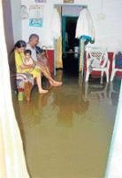 Rain wreaks havoc