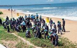 Coast Guards, NCC cadets, cops clean beaches