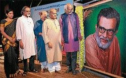 B V Karanth  passionate about 'Bhootharadhane': Sculptor