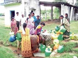 Parched village gets water