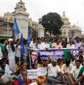 Protest in front of Vidhana Soudha