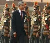 Obama gets ceremonial welcome at Rashtrapati Bhavan