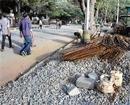 Footpaths turn dump yards