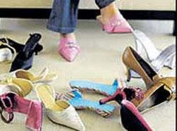 'High heels take 34 minutes before they start pinching'