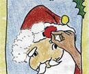 Santa's nose has run away?