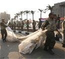 Scuffles break out at Tahrir as army attempts clean-up
