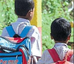 Schoolchildren tormented  by 'bag'pain