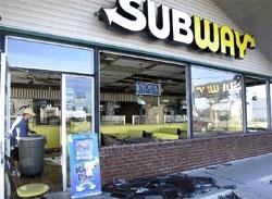 Subway displaces McDonald's as largest global restaurant chain