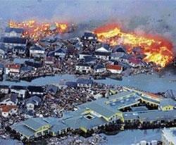 Tsunami devastates Japan
