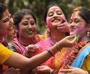 United colours of Holi splash India
