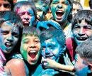 Revellers paint the town in rainbow hues