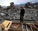 Swept away by tsunami