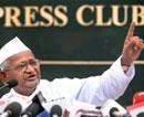 Hazare wants panel members to declare assets