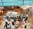 Worker killed in mudslide