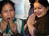 Mamata set to oust Left in Bengal; Jaya wave in TN