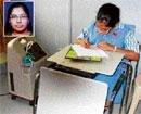 She wrote exam on ventilator