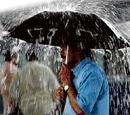 Raining here, dry there!