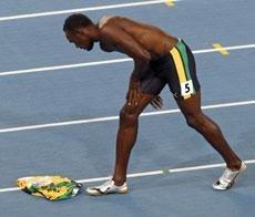 Blake Sunday for false-starting Bolt