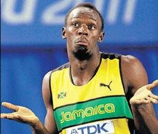 It's over for Bolt at the start