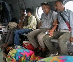 35 tourists airlifted from quake-hit Lachung village