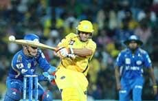 Hussey's quickfire 81 takes Chennai to 158 for four